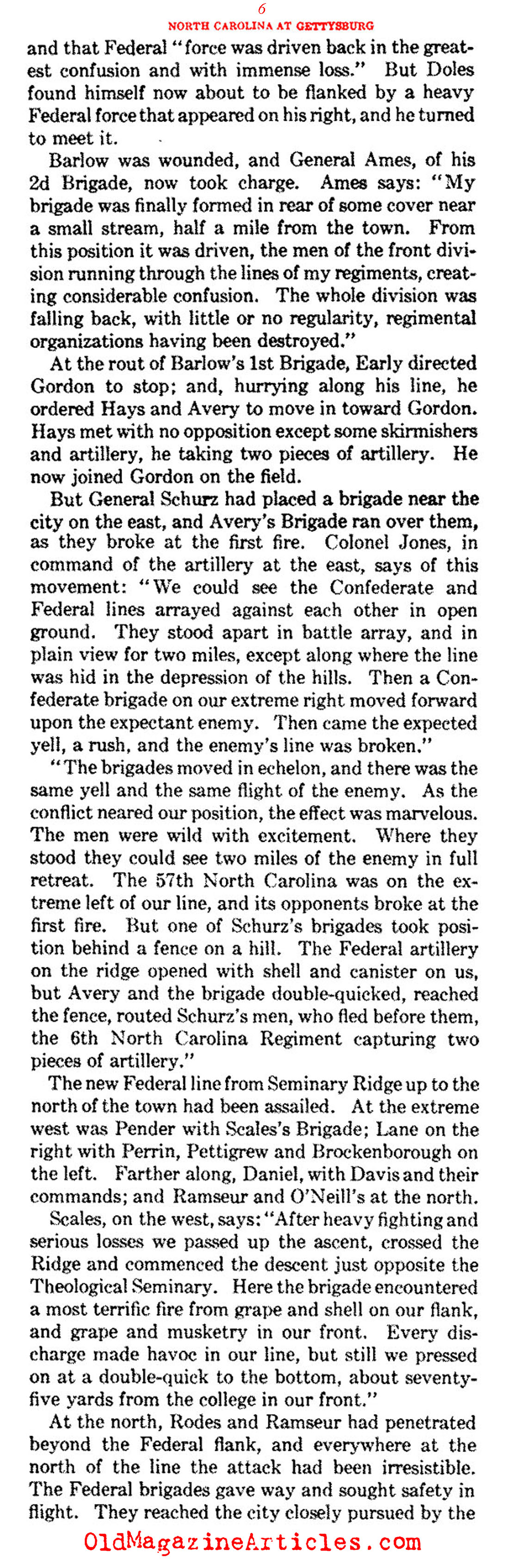 The North Carolina Presence at Gettysburg  (Confederate Veteran Magazine, 1930)