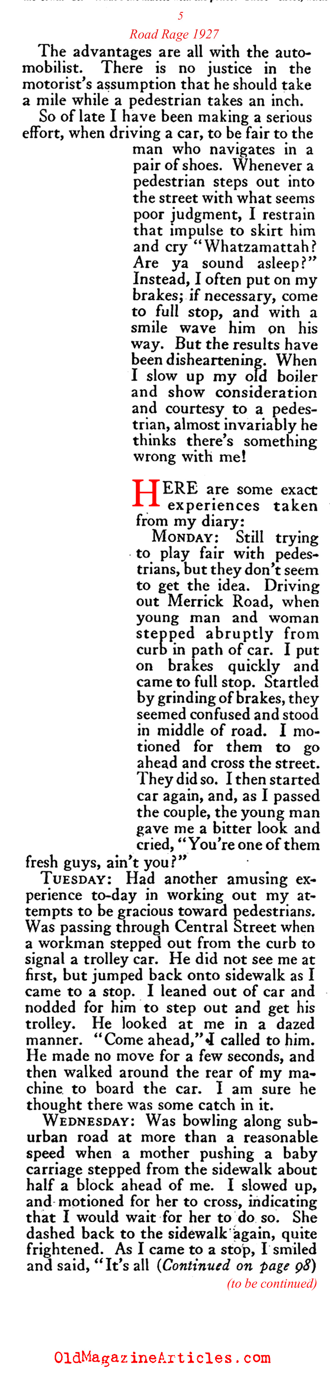 road rage essay 1920s road rage magazine article road rage 1920s road rage the american magazine 1927