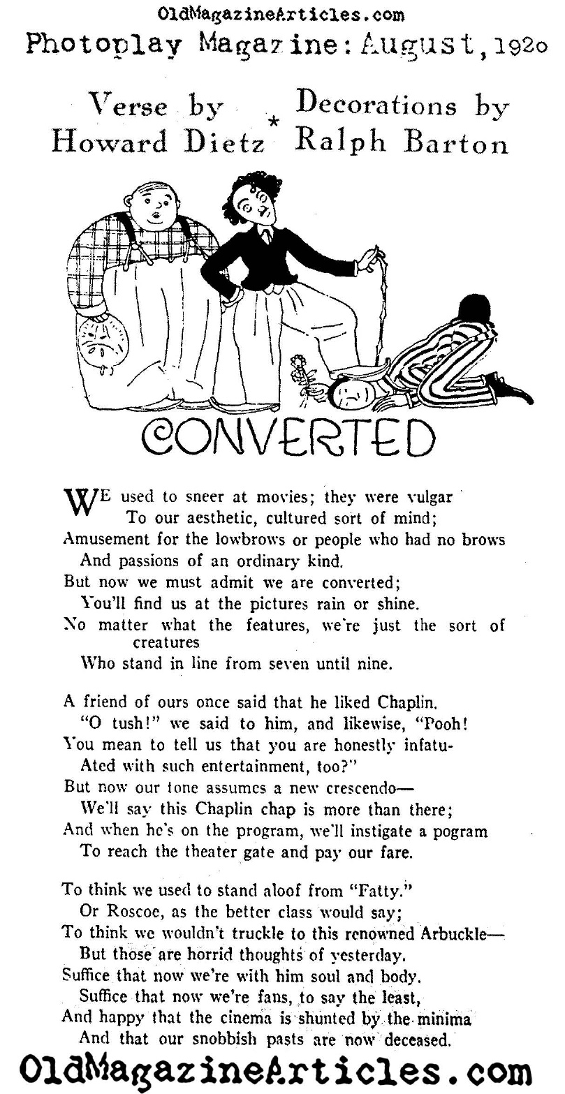 Converted Film Haters (Photoplay Magazine, 1920)