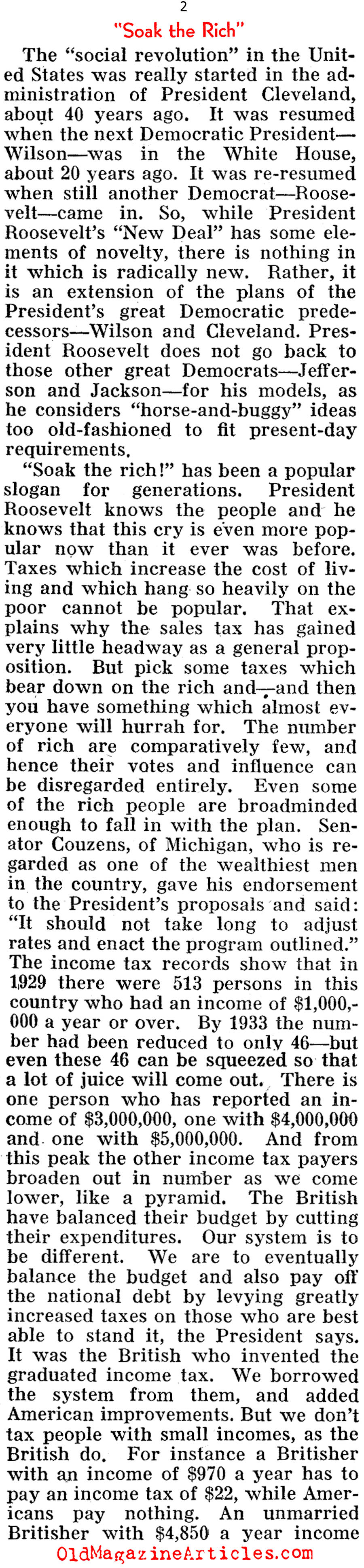 ''Soak the Rich'' (Pathfinder Magazine, 1935)