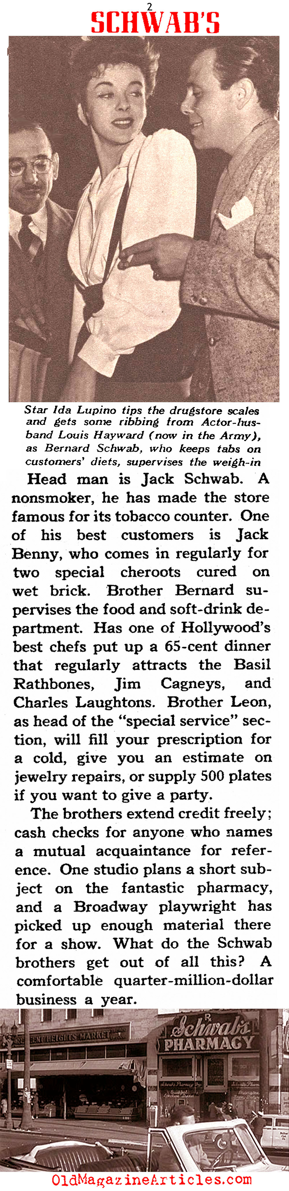''Hollywood Hangout'' (The American Magazine, 1942)