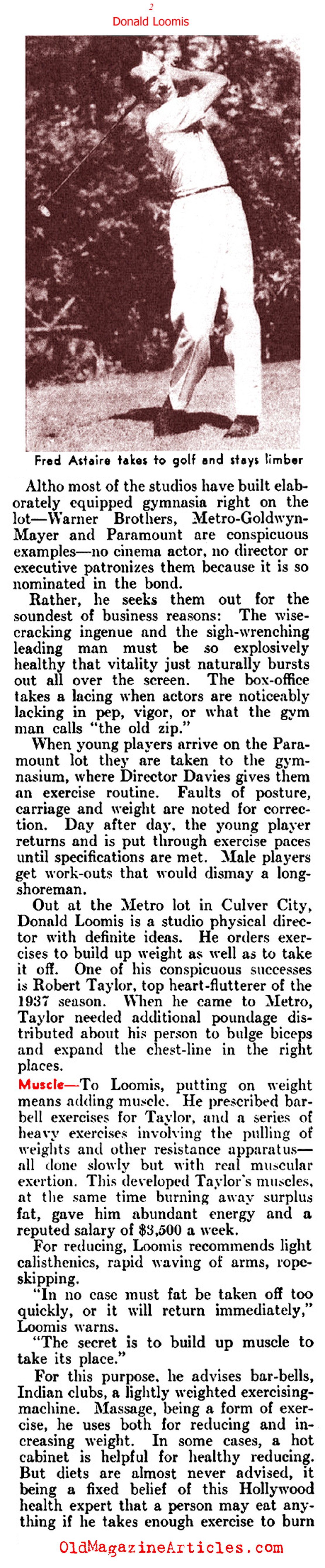 The Old Hollywood Way to Physical Perfection (Literary Digest, 1937)