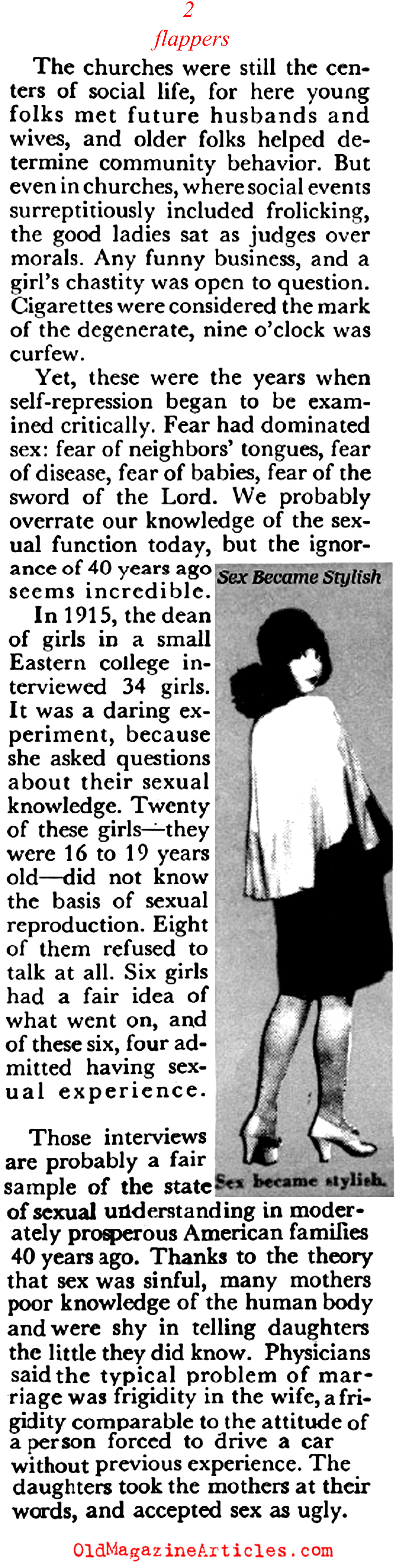 Flappers Altered the Sexual Mores of the Nation (Coronet Magazine, 1955)