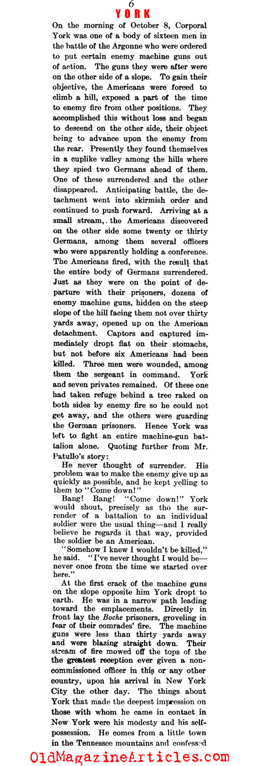 Sergeant York (Literary Digest, 1919)