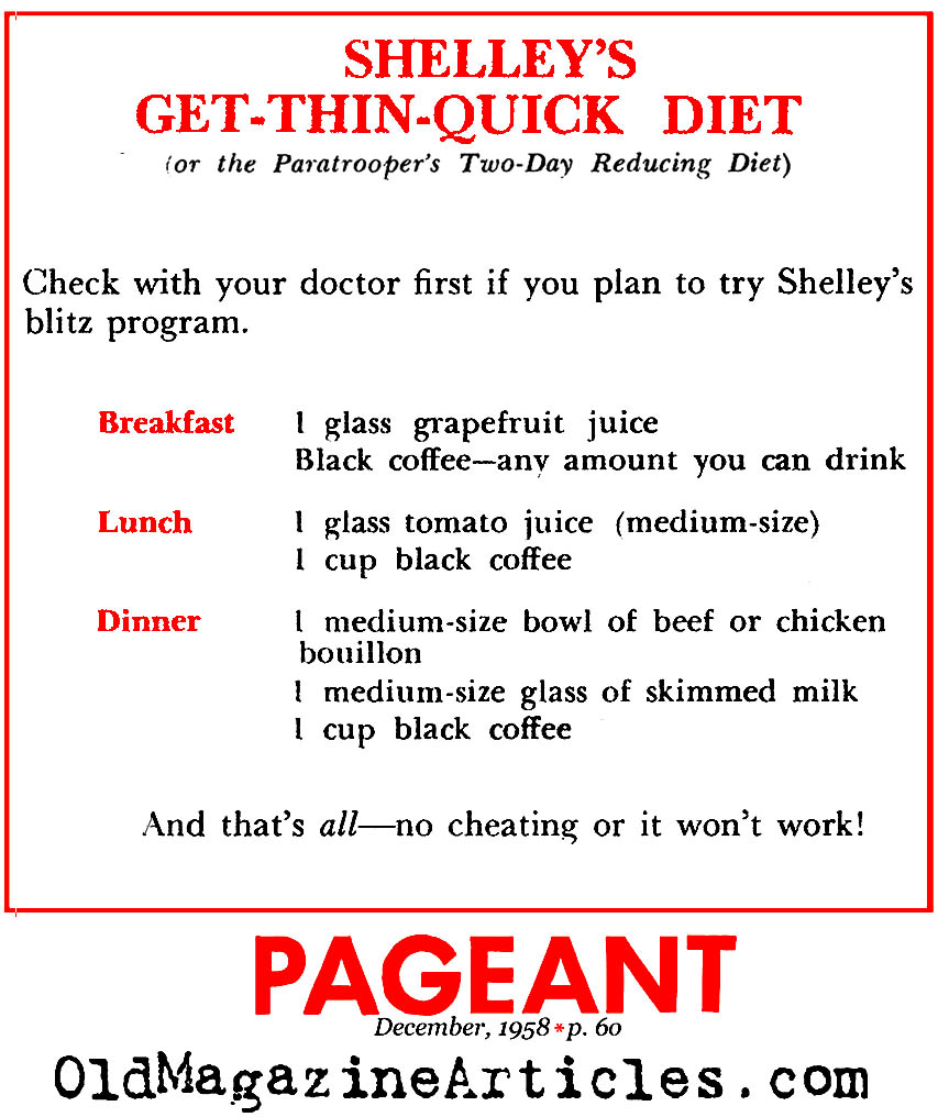 The Shelley Winters 'Get Thin Quick' Diet