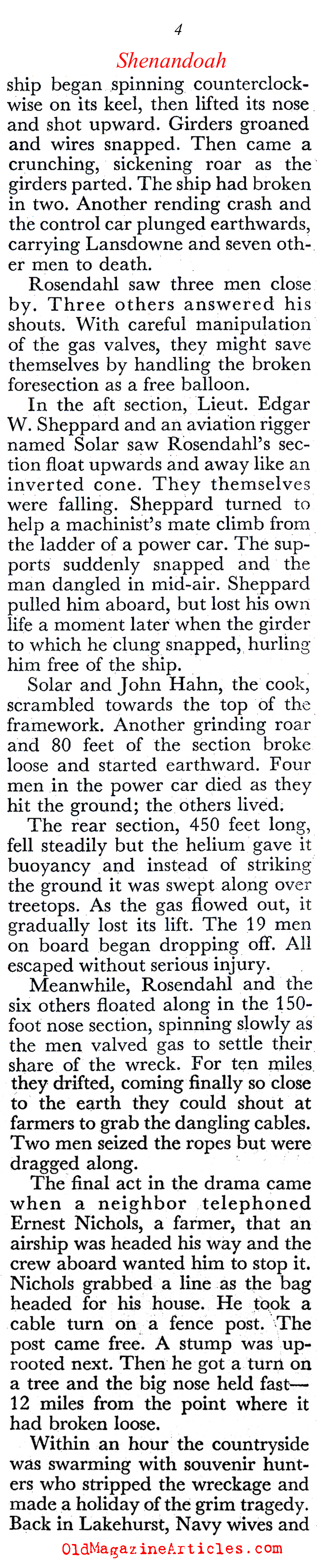 The Destruction of the ''Shenandoah'' (Coronet Magazine, 1949)