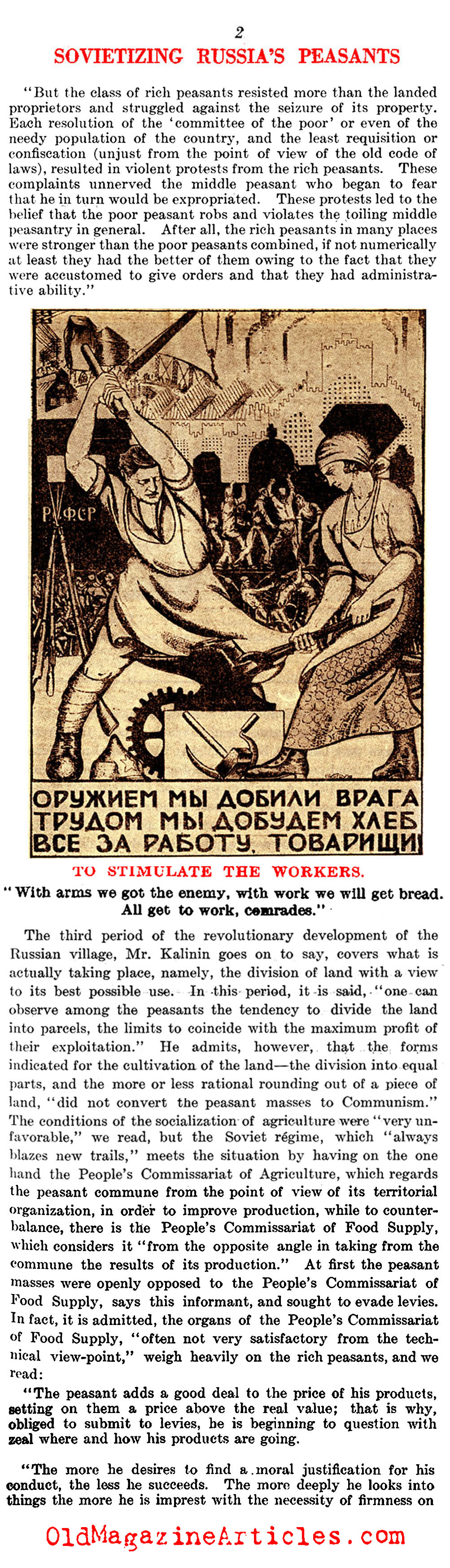 Posters Will ''Sovietize'' the People (Literary Digest, 1921)