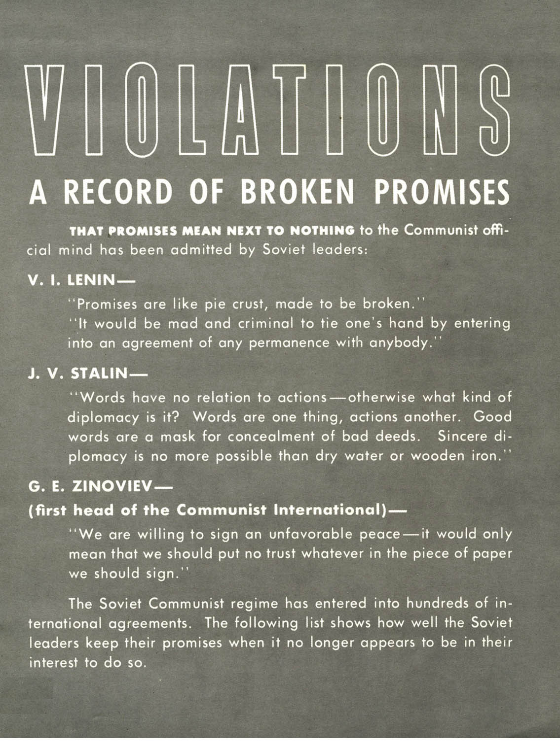 Soviet Treaty Violations (U.S. Dept. of Defense, 1962)