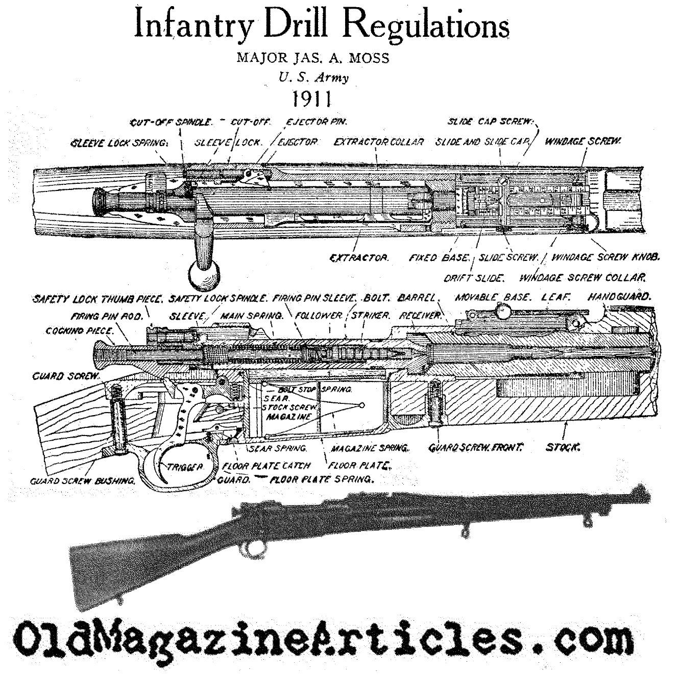 The American Springfield '03 Rifle (U.S. Infantry Drill Manual, 1911)