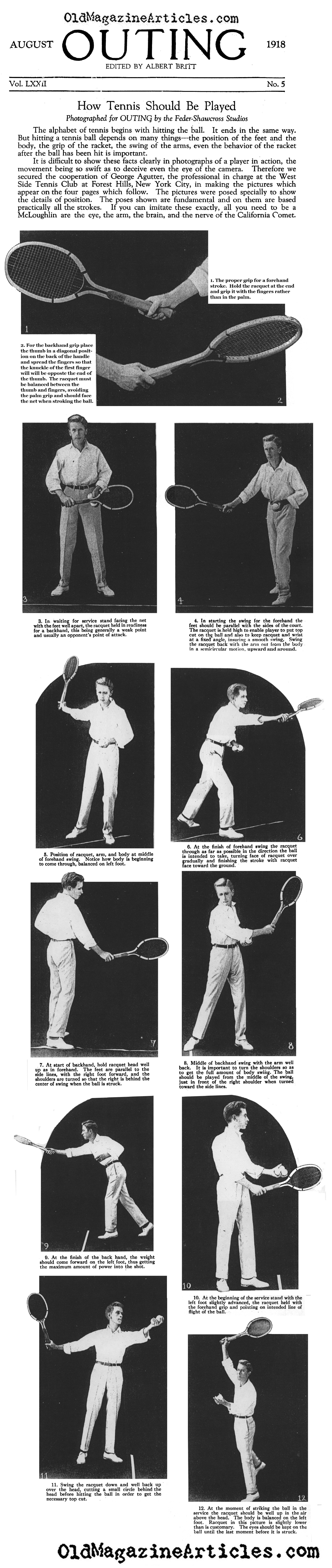 How Tennis Should Be Played (Outing Magazine, 1918)