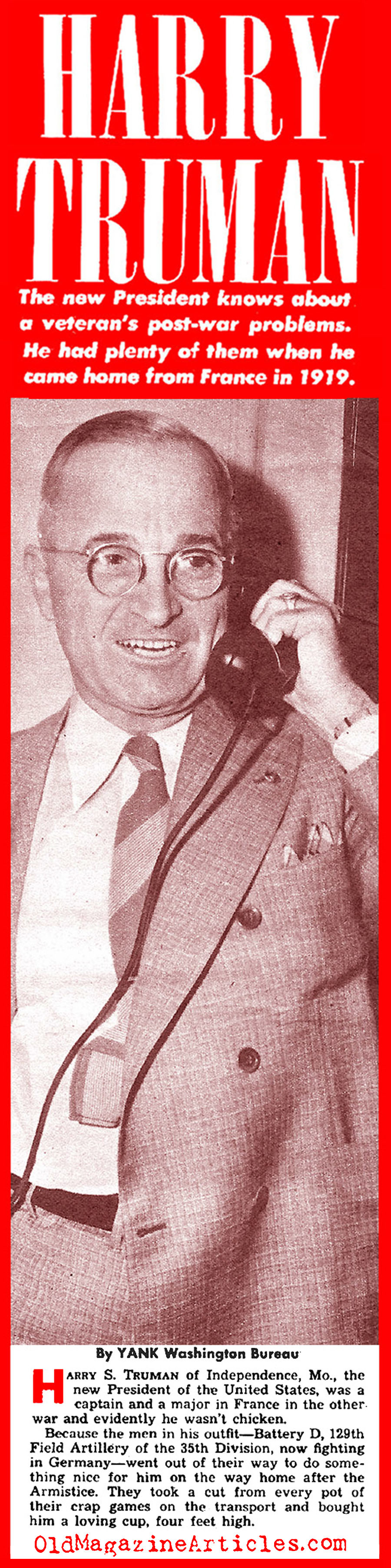 The New Commander-in-Chief: Harry S Truman (Yank Magazine, 1945)