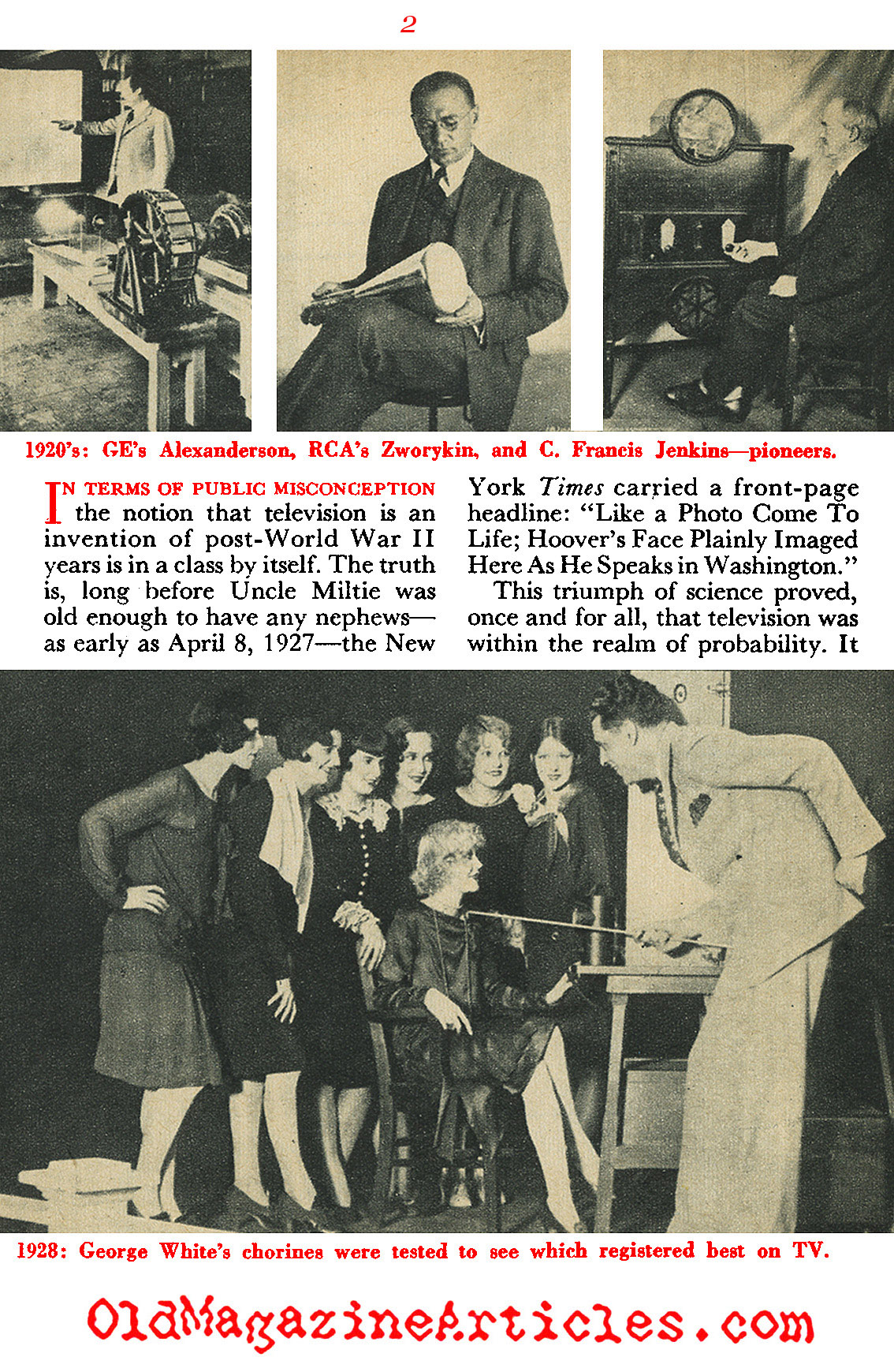 The First Thirty Years of Television (Coronet Magazine, 1954)