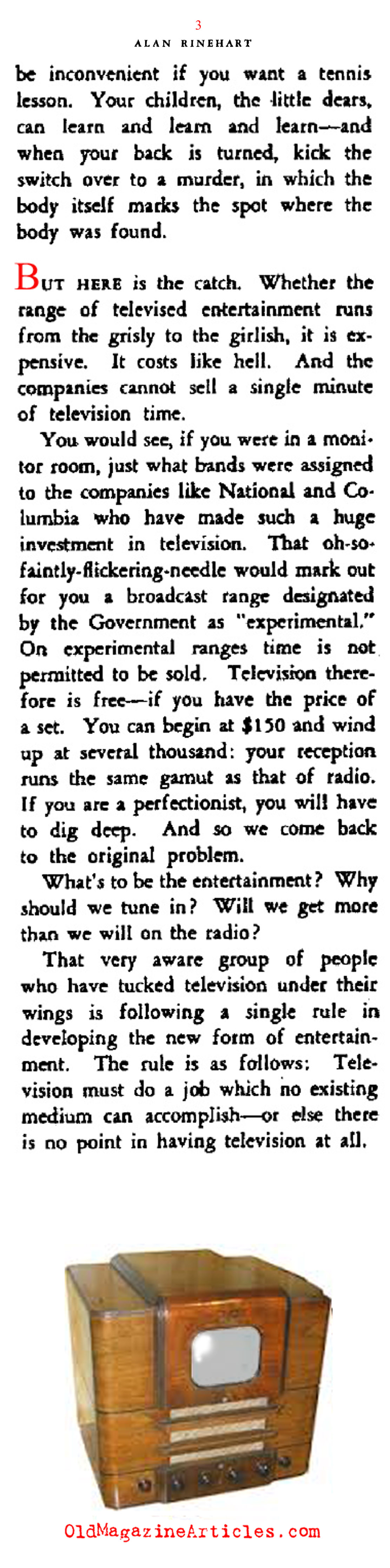 Television with All It's Possibilities (Stage Magazine, 1939)