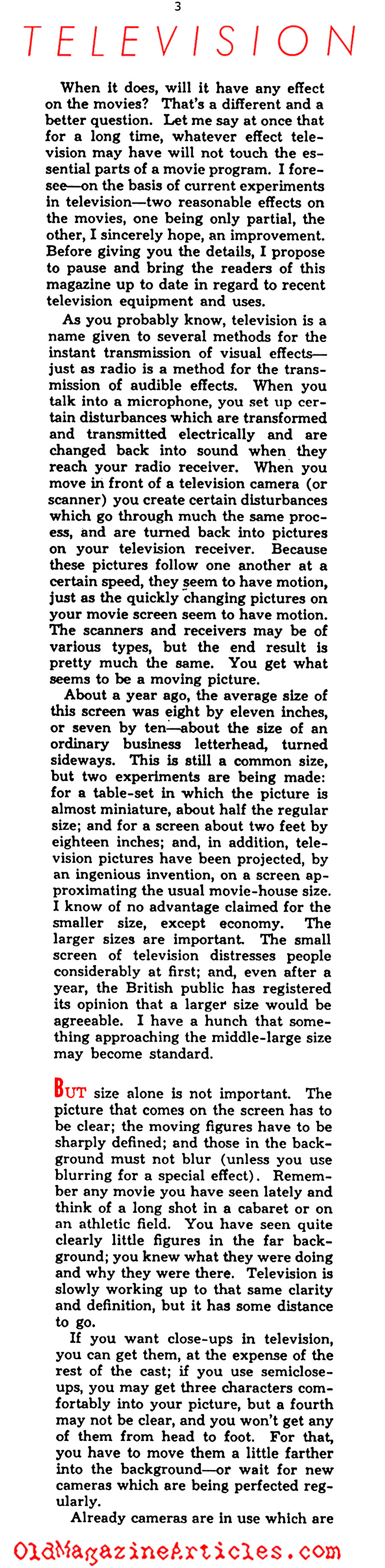 ''Television: The Hollywood Enigma'' (Photoplay Magazine, 1938)