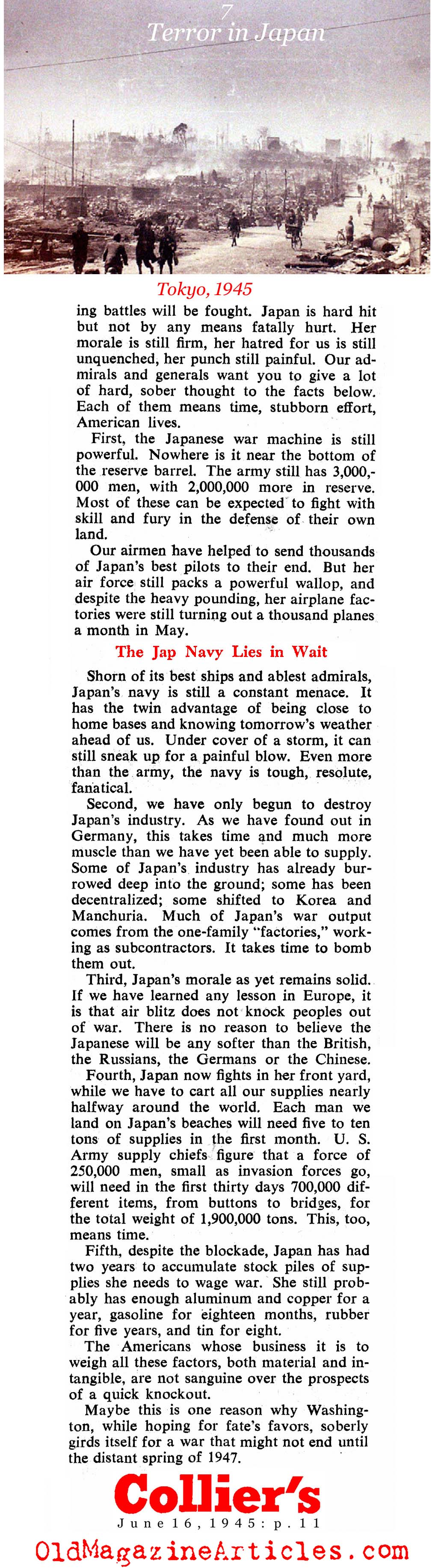''Terror in Japan'' Collier's Magazine, 1945)