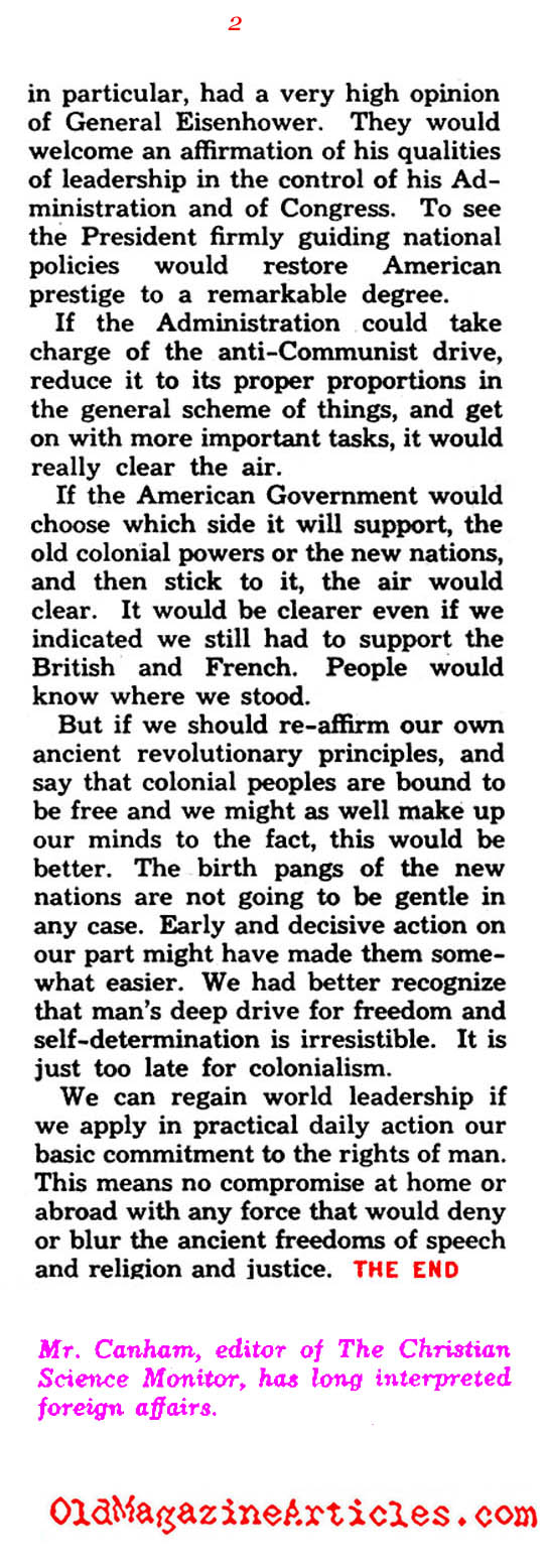 U.S. Racial Diversity and the Cold War (Quick Magazine, 1954)