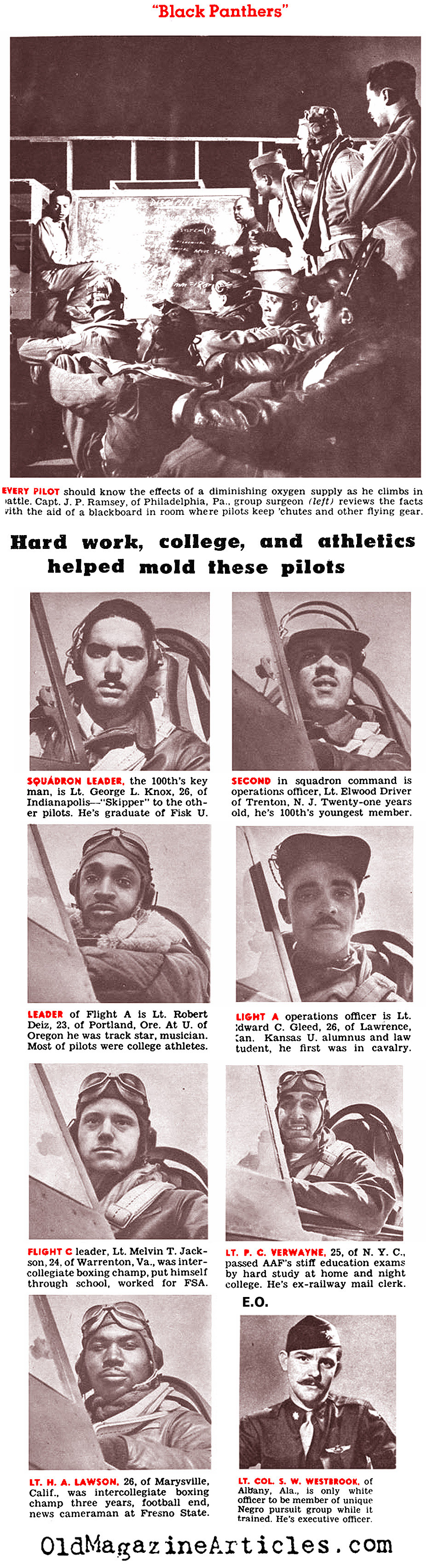African-American Fighter Pilots (Click Magazine, 1943)