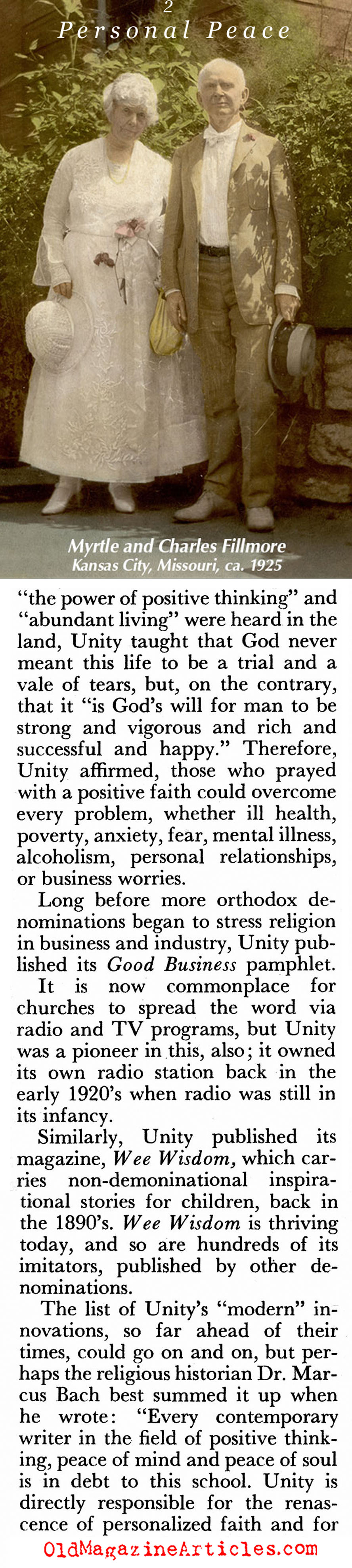 ''A Path Toward Personal Peace'' (Pageant Magazine, 1957)
