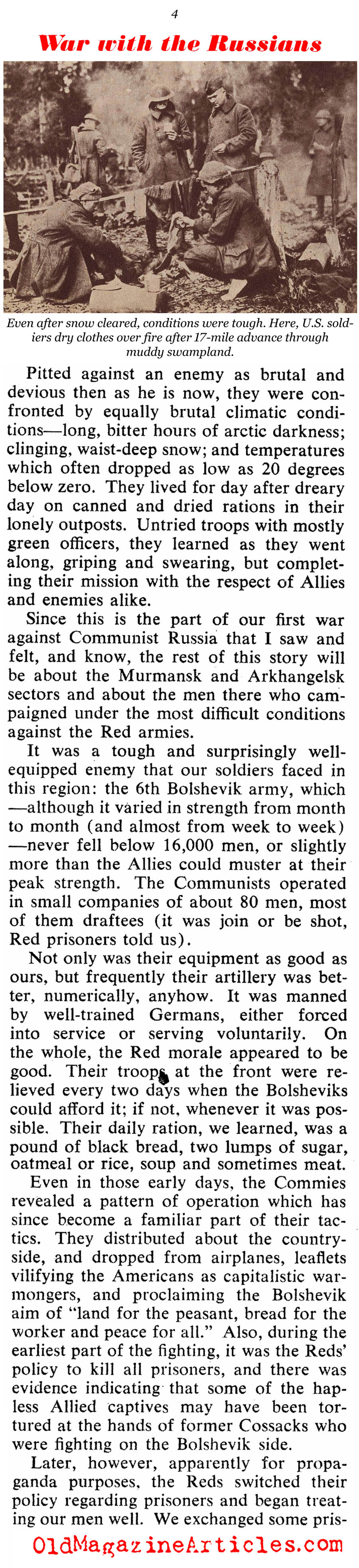 ''Our First War With The Russians'' (Collier's Magazine, 1951)