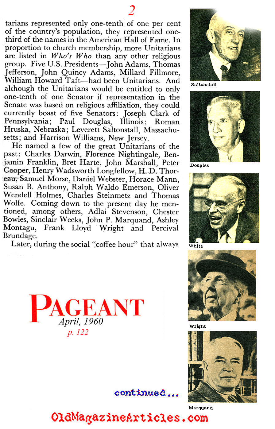 The Unitarians (Pageant Magazine, 1960)