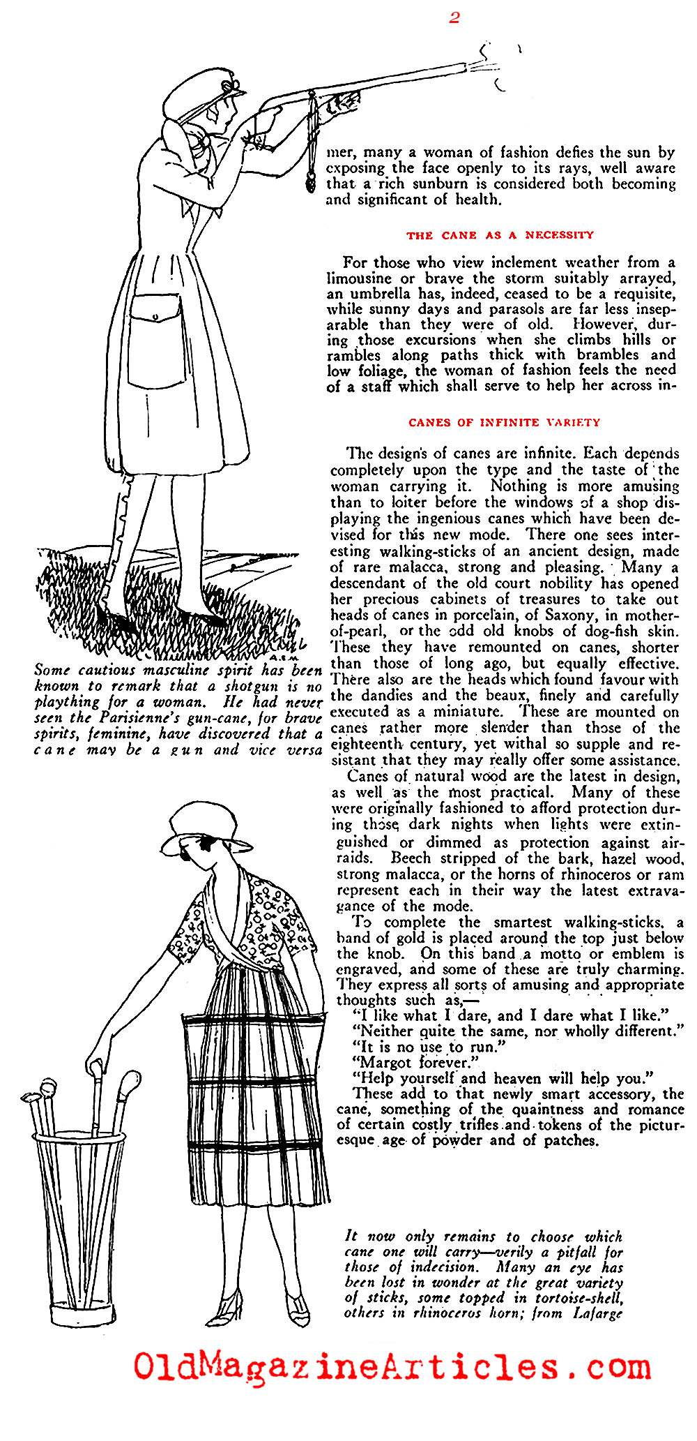 Paris Puts a Stick in the Mode...(Vogue Magazine, 1919)