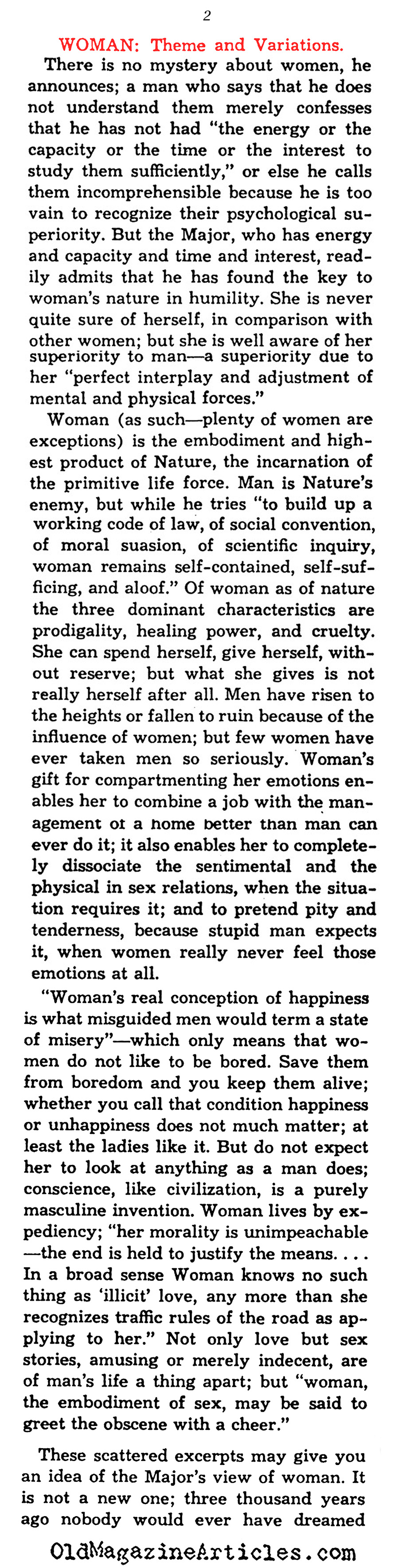 Another Addition to Man's Incomprehension of Woman... (The Saturday Review of Literature, 1932)