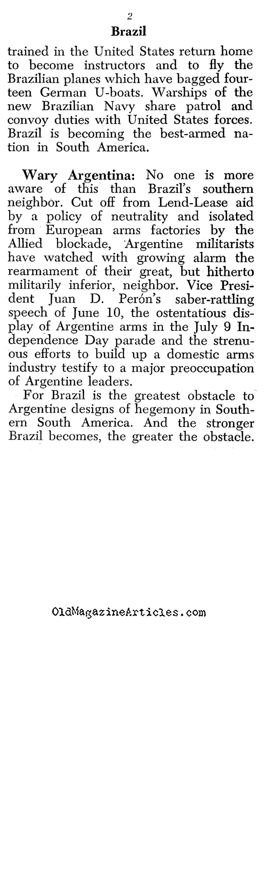 With the Brazilians in Italy (Yank Magazine, 1945)