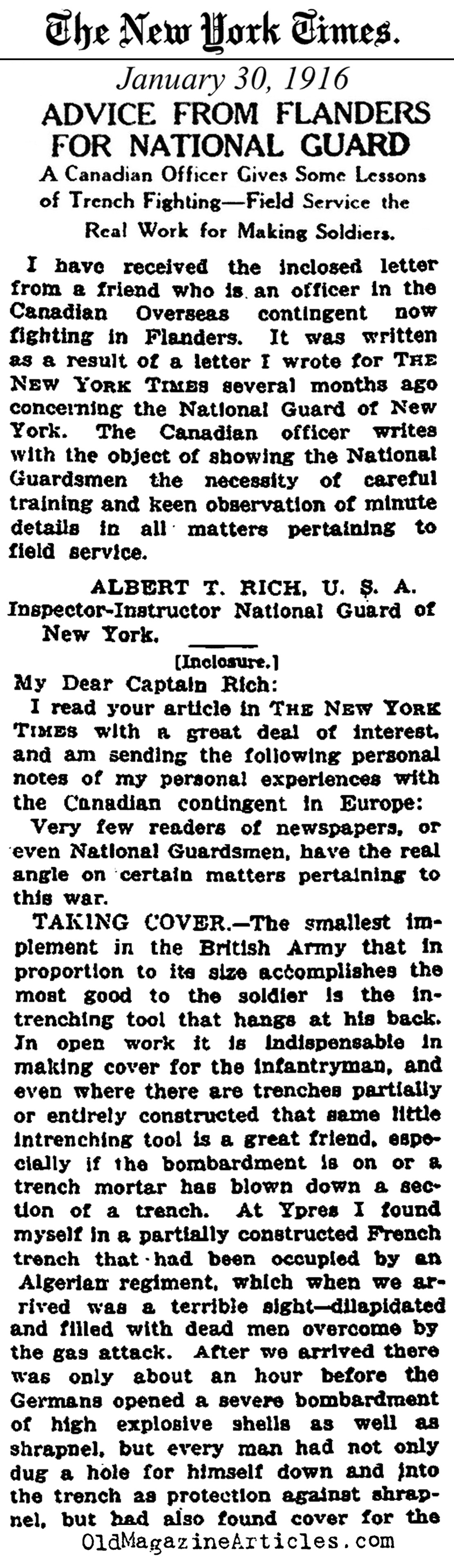 letter from a veteran new york times 1916