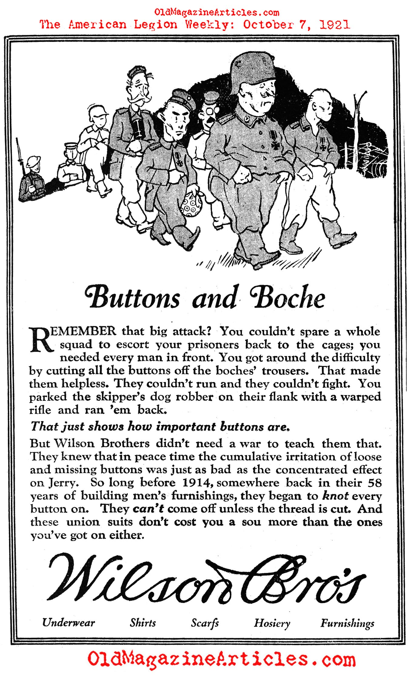 A Clever Way to Escort Prisoners... (American Legion Weekly, 1921)