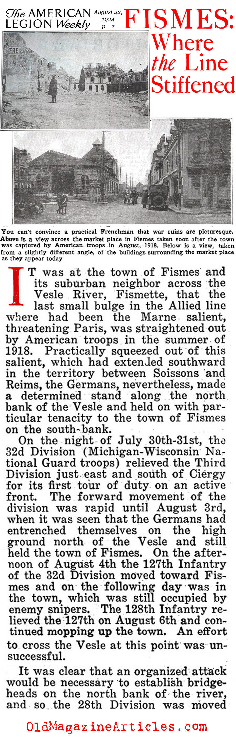 WW1 AMERICAN ARMY AT FISMETTE ...