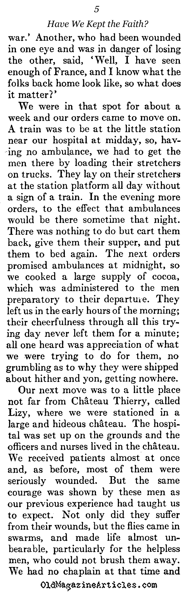 Remembering the American Dead (The Atlantic Monthly, 1923)