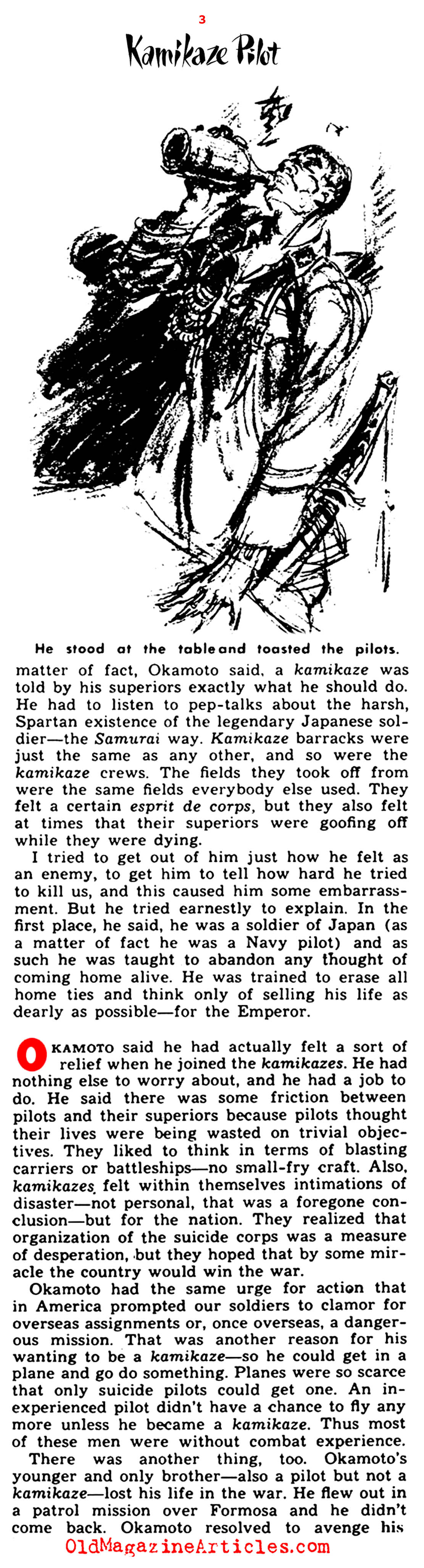 An Interview with a Kamikaze Pilot  (Yank Magazine, 1945)