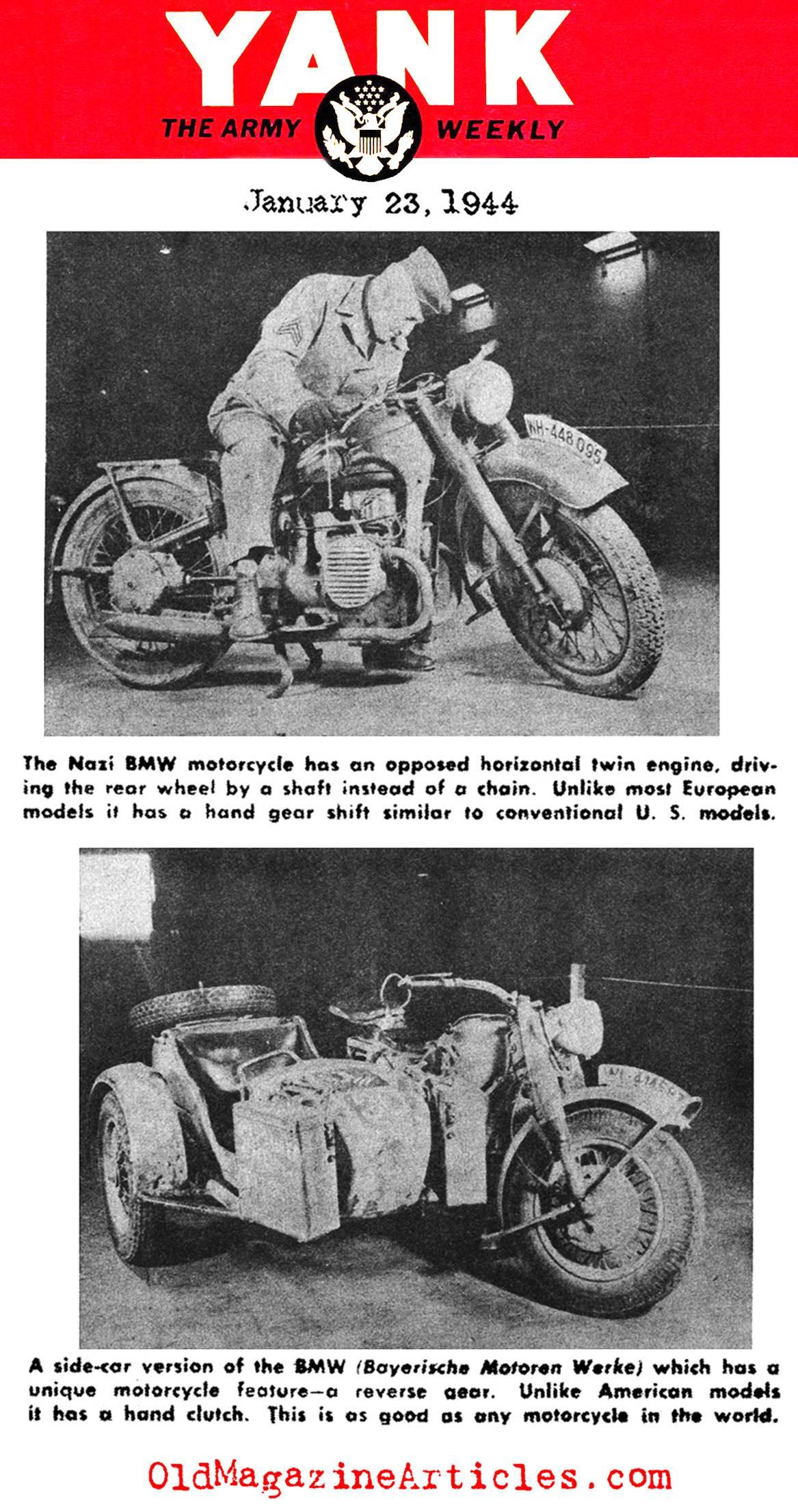 ww2 bmw motorcycle article,1940s bmw motorcycle article,german ww2