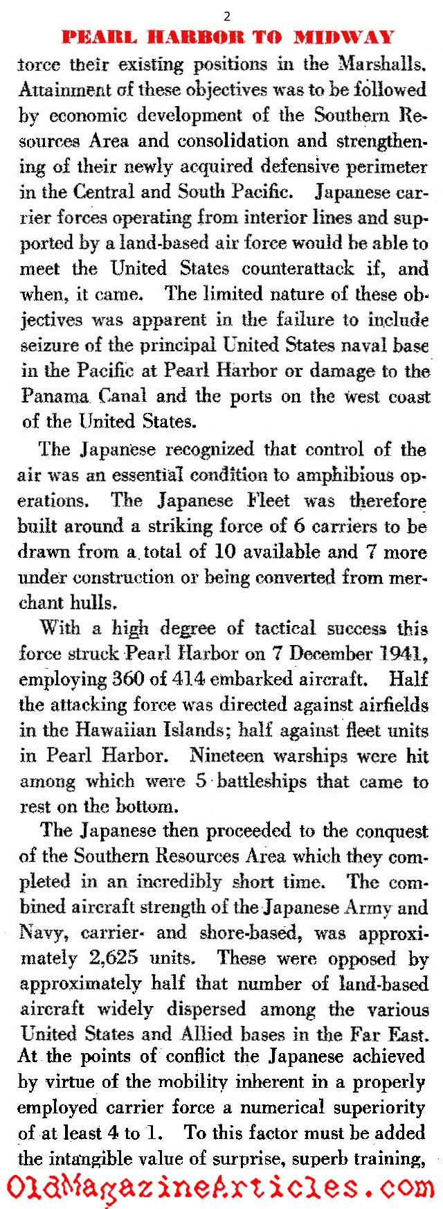 The U.S. Navy's War: Pearl Harbor to Midway (Dept. of the Navy, 1947)