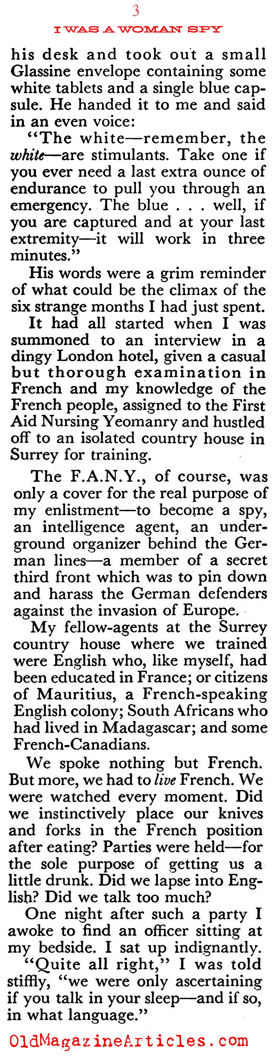 The Lady was a Spy  (Coronet Magazine, 1954)