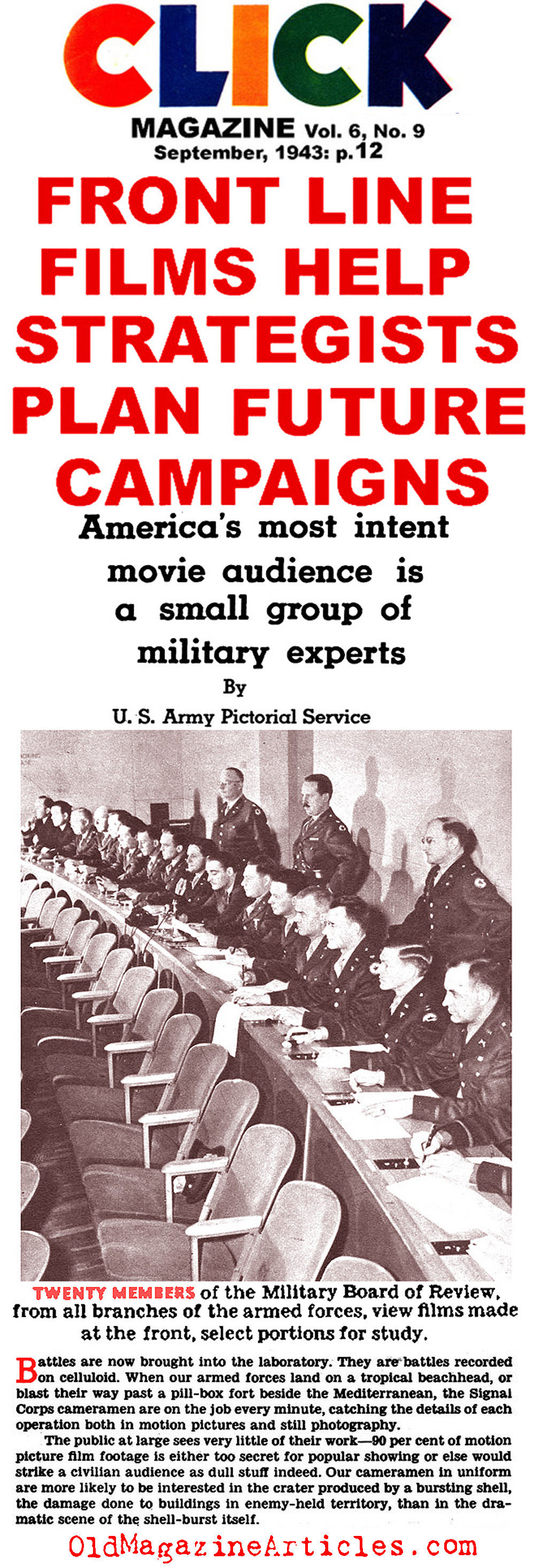 The Films of the U.S. Army Signal Corps (Click Magazine, 1943)