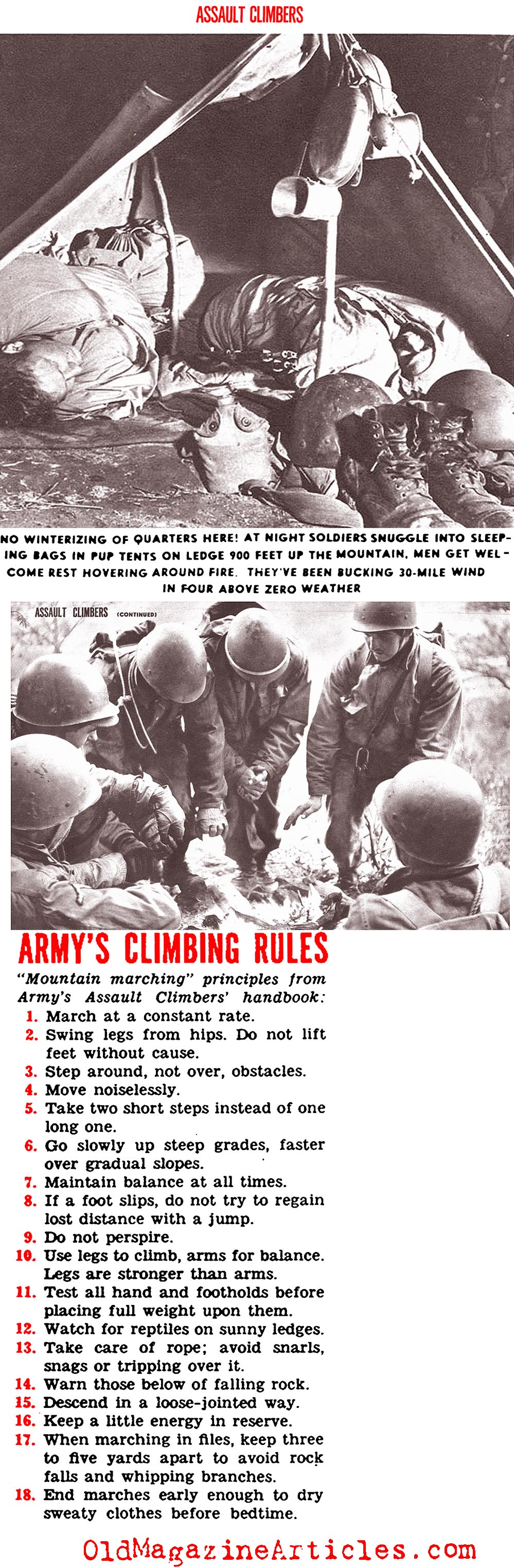 ''Assault Climbing'' (Click Magazine, 1944)