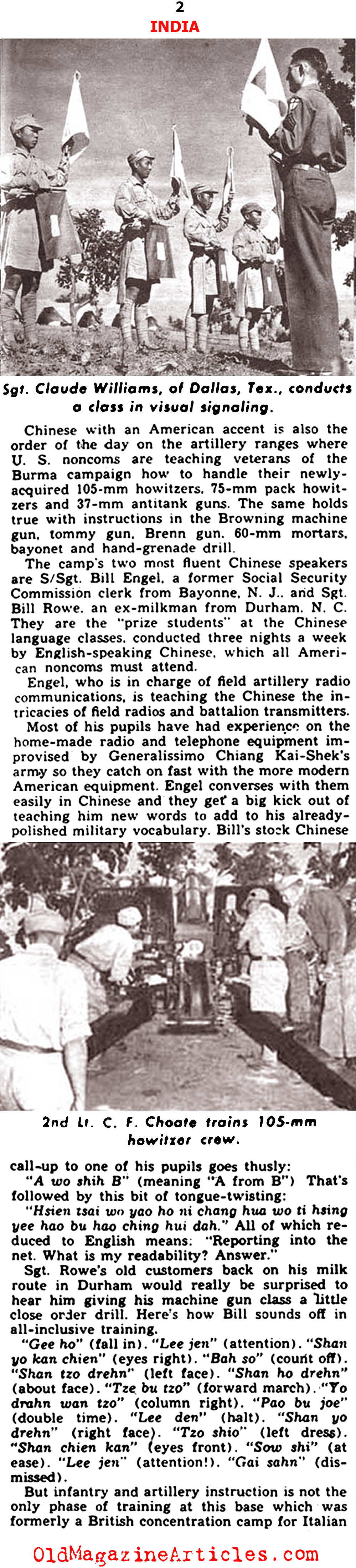 Nationalist Chinese Trained by U.S. Army (Yank, 1943)