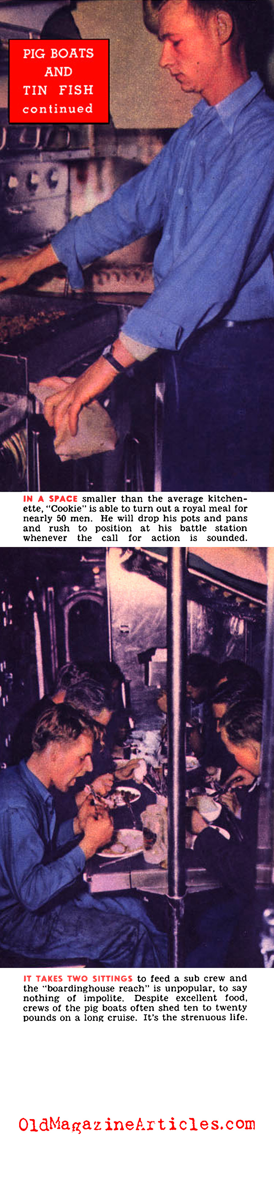Life on a U.S. Navy Sub (Click Magazine, 1943)