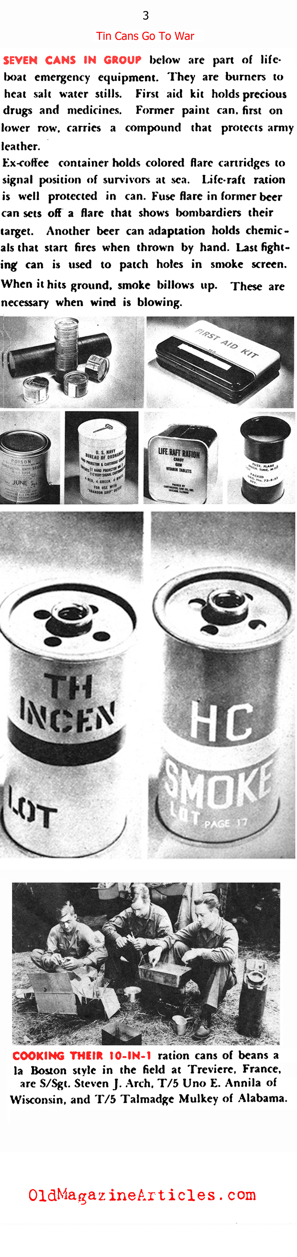 Tin Cans Go to War  (Click Magazine, 1945)