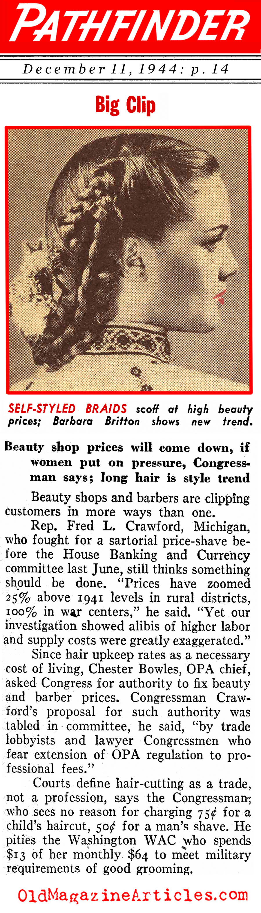 Barbers & Hair Stylists Called On The Carpet (Pathfinder Magazine, 1944)