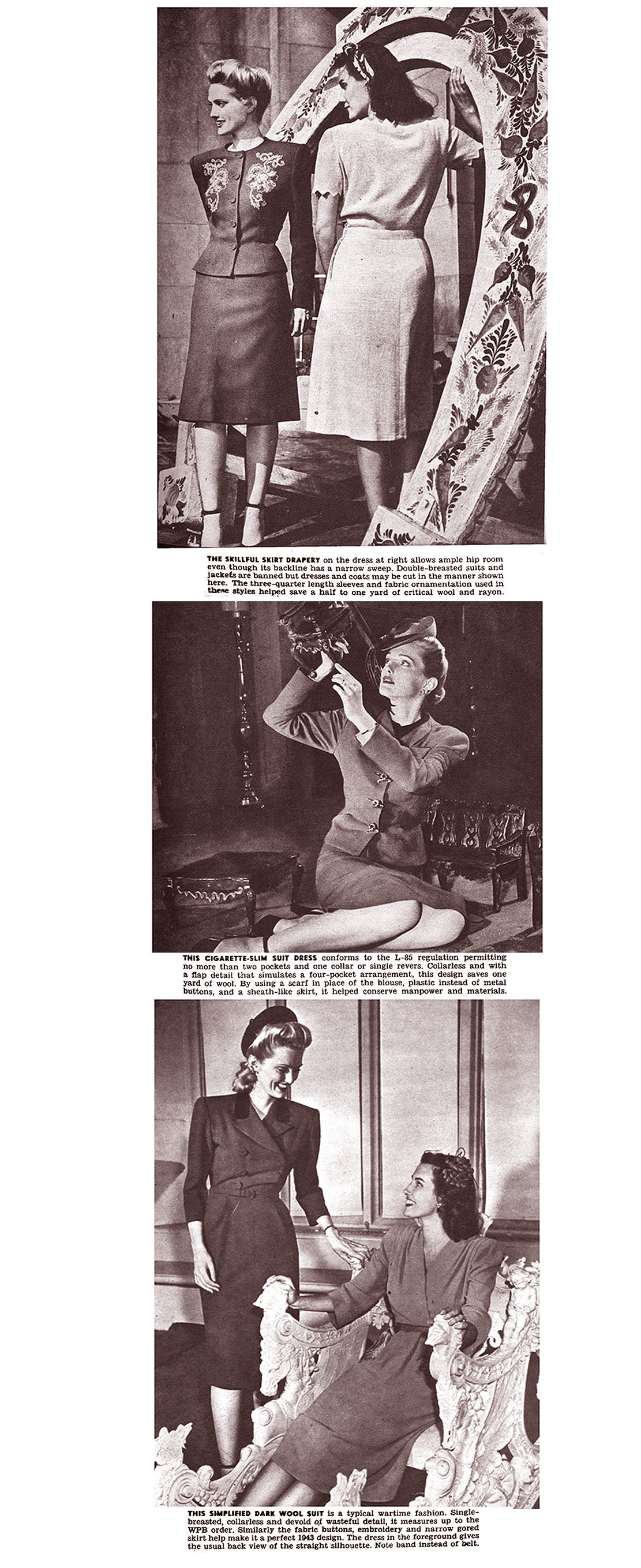 That Slim Wartime Silhouette (Click Magazine, 1943)