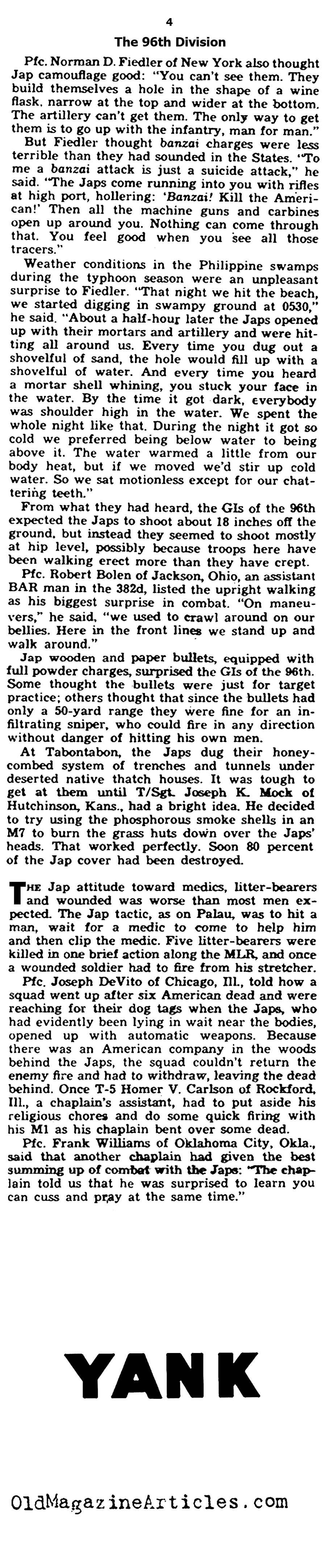 War Stories from the Pacific (Yank Magazine, 1945)