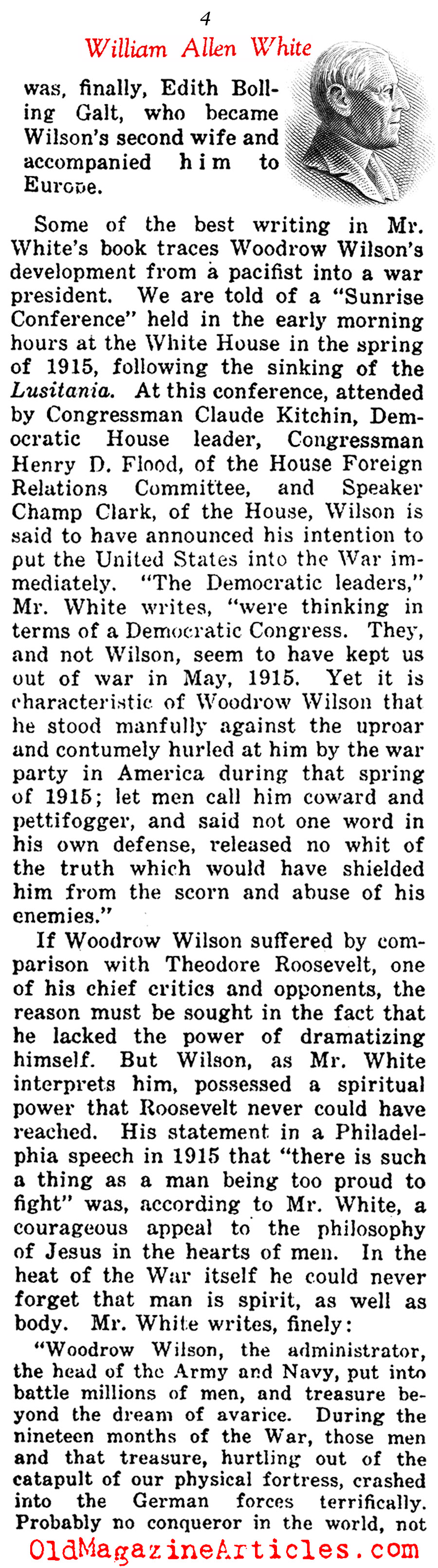 The Life of Woodrow Wilson  (Current Opinion, 1925)