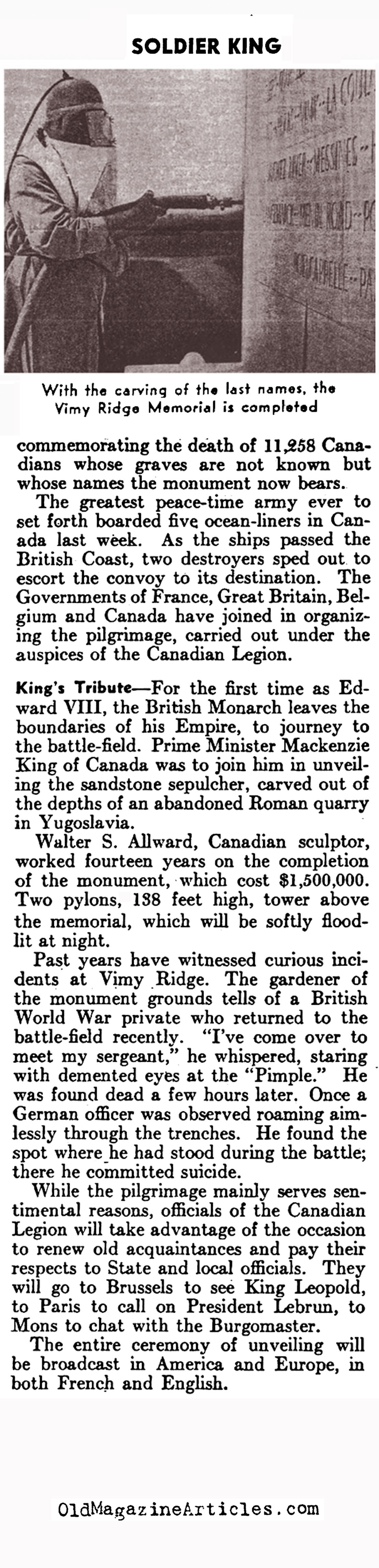 Edward VIII: the Soldier King (Literary Digest, 1936)