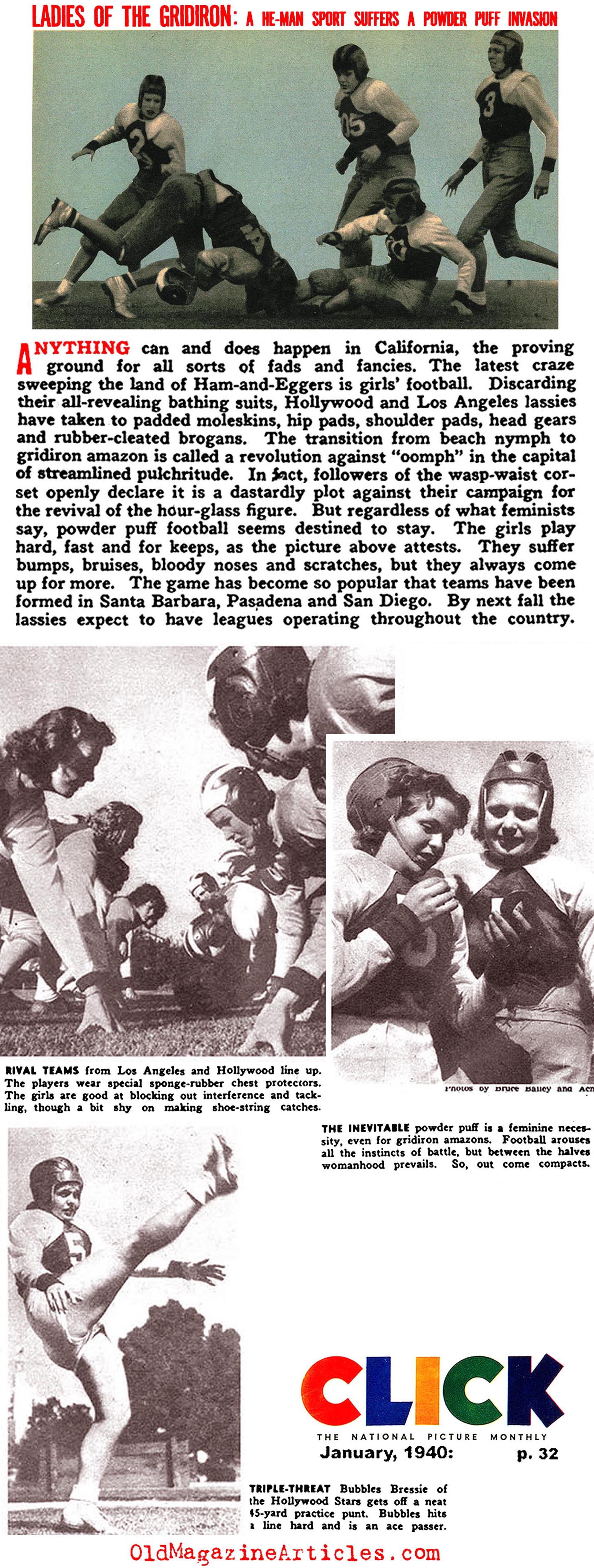 Women's Football (Click Magazine, 1940)