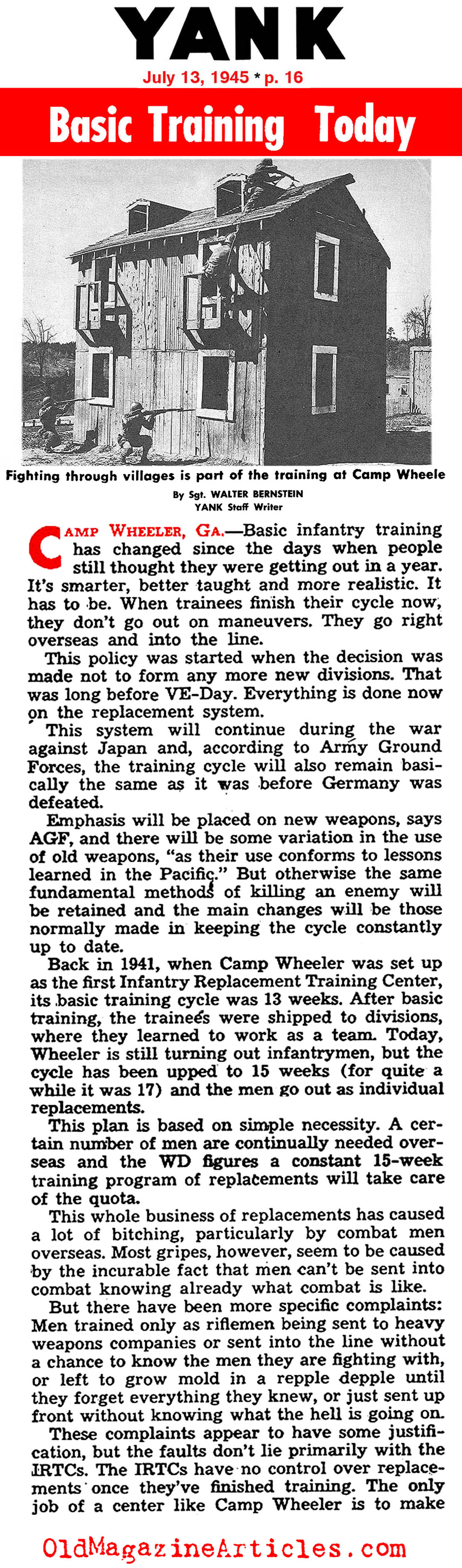 Basic Training in 1945: Camp Wheeler (Yank Magazine, 1945)