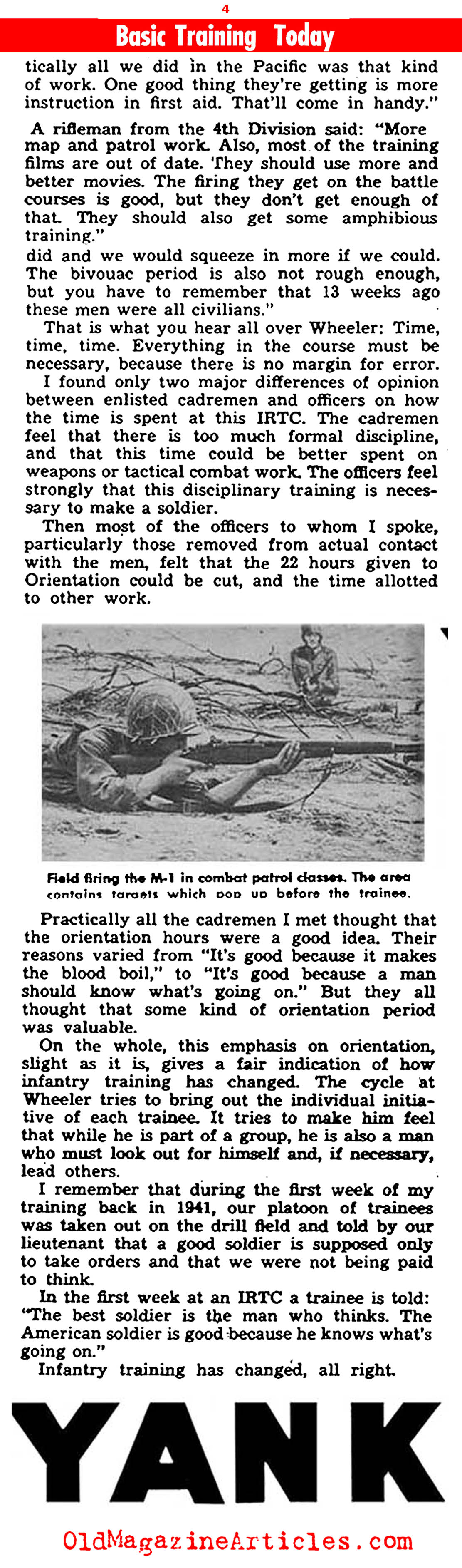 Late War Combat Training: Camp Wheeler (Yank Magazine, 1945)
