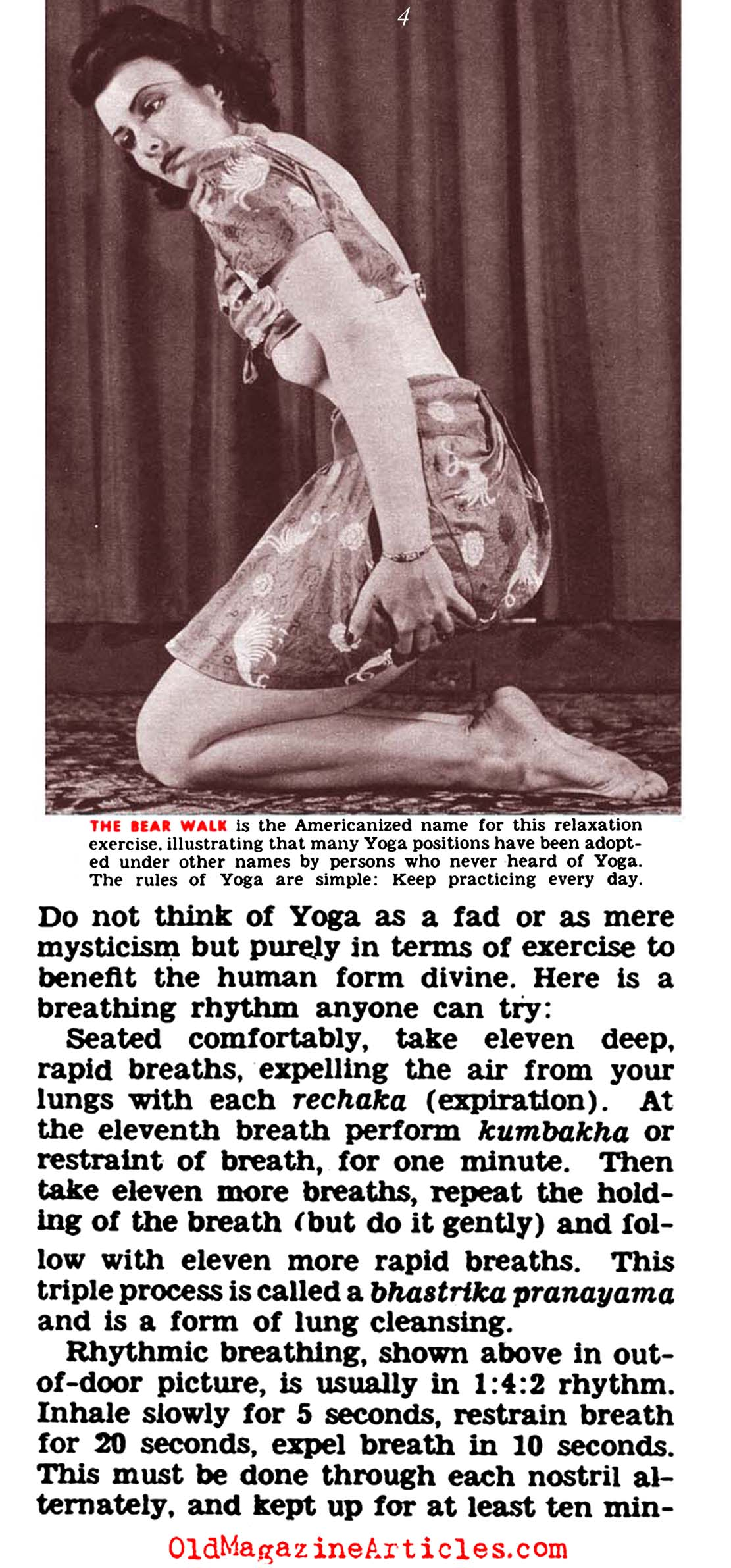 The American Discovery of Yoga  (Click Magazine, 1942)