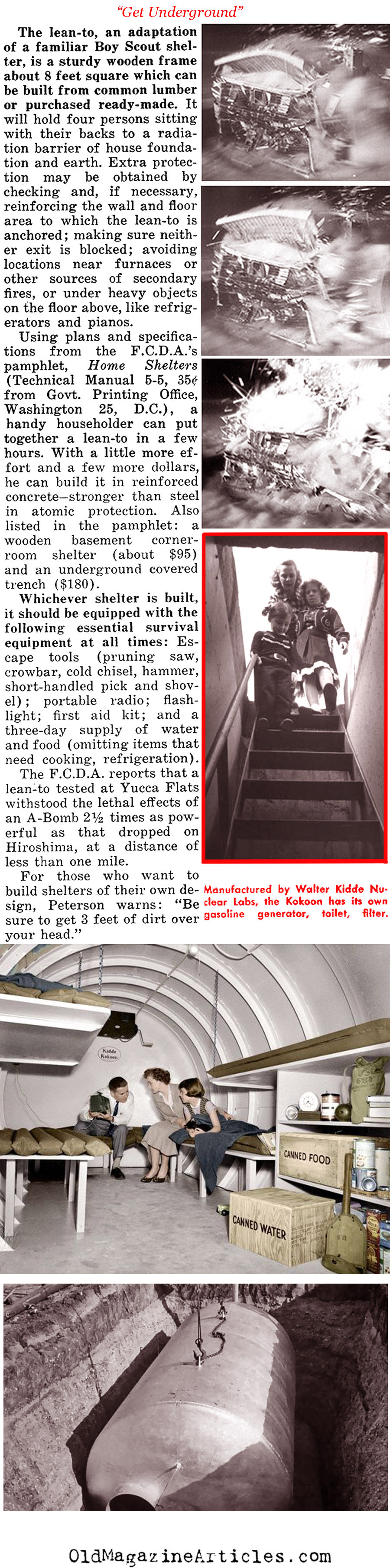 The Allure of the Private Bomb Shelter (People Today Magazine, 1955)